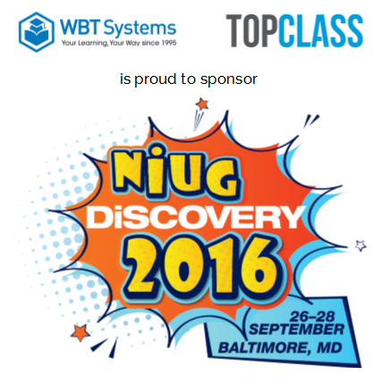 WBT Systems sponsors NiUG Discovery 2016