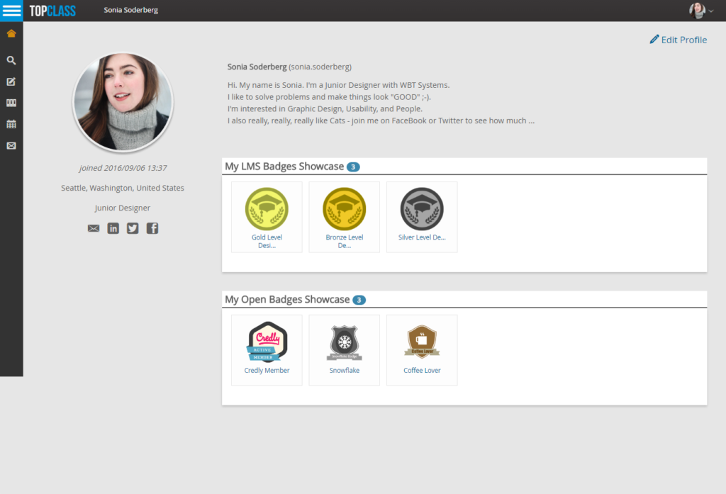 TopClass LMS and OpenBadges for Association Education