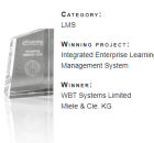 eLearning award 2018 Best LMS for WBT Systems
