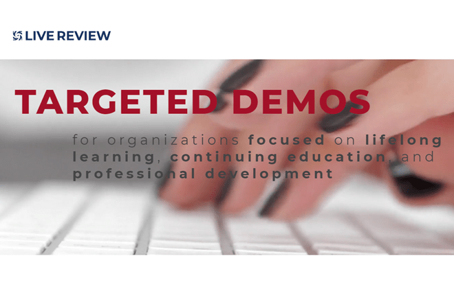 See TopClass LMS in action during Live Review