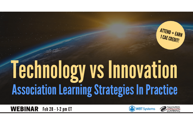 Association Learning Tech vs Innovation webinar WBT Systems