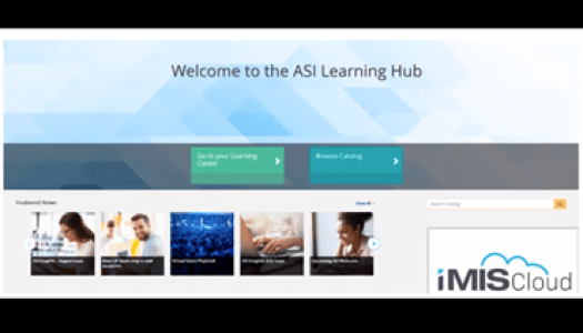 ASI Launches Learning Hub for iMIS Clients Powered by TopClass LMS by WBT Systems