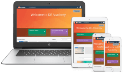 DEAcademy mobile responsive learning platform built on TopClass LMS
